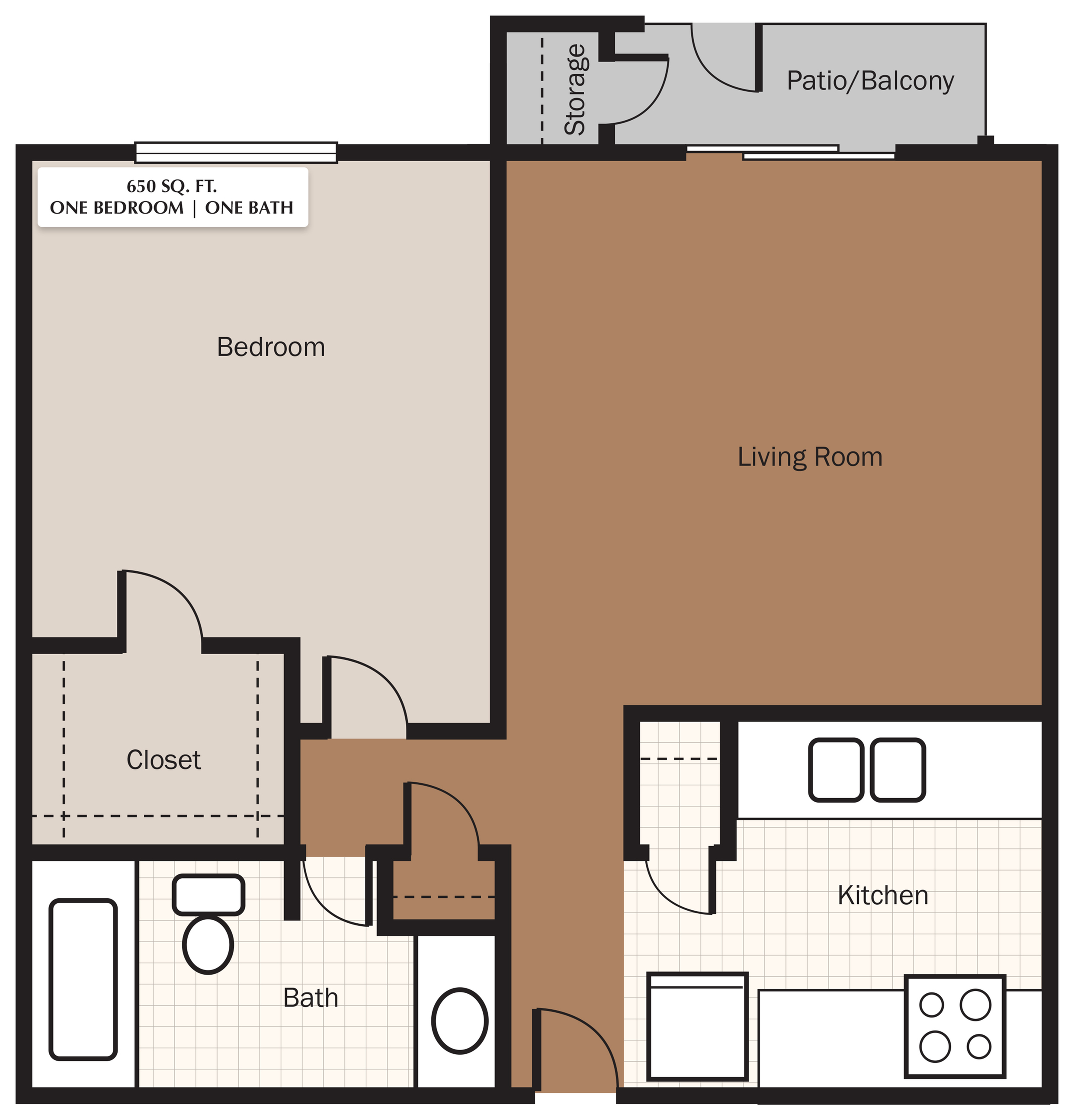 The Meadows Apartments Floorplan 1