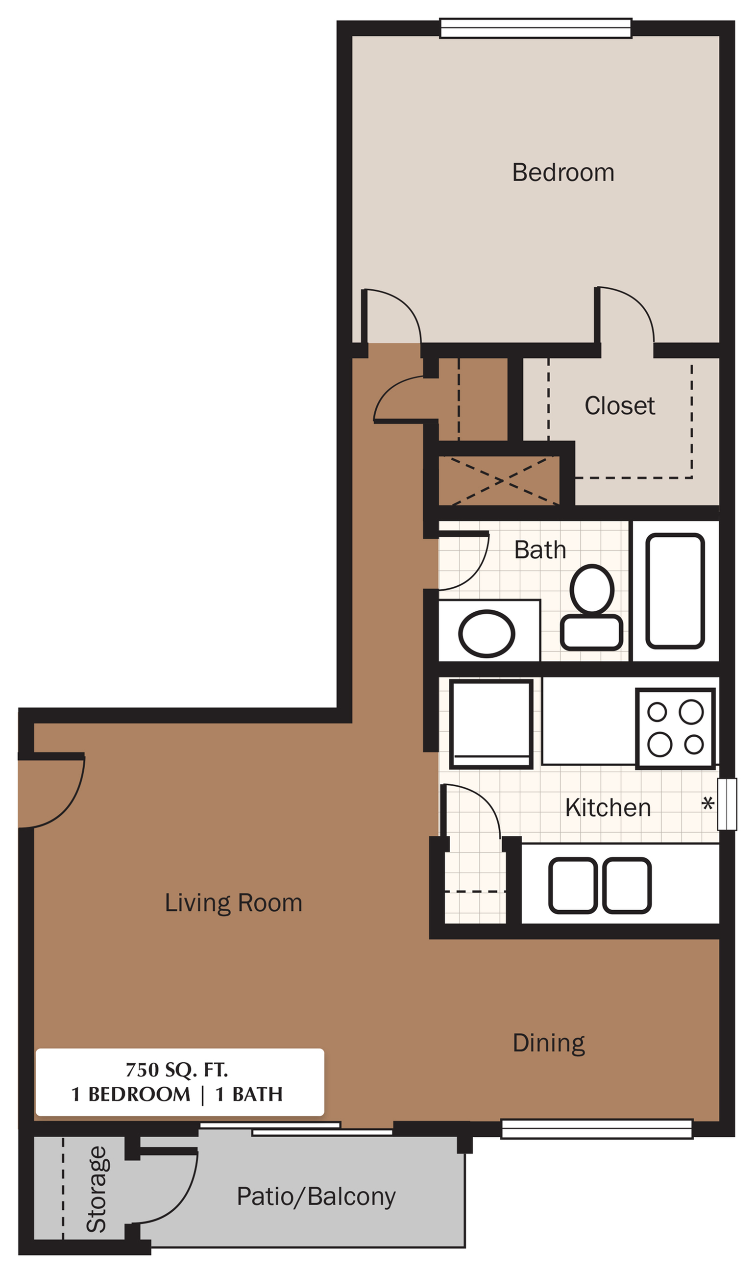 The Meadows Apartments Floorplan 2