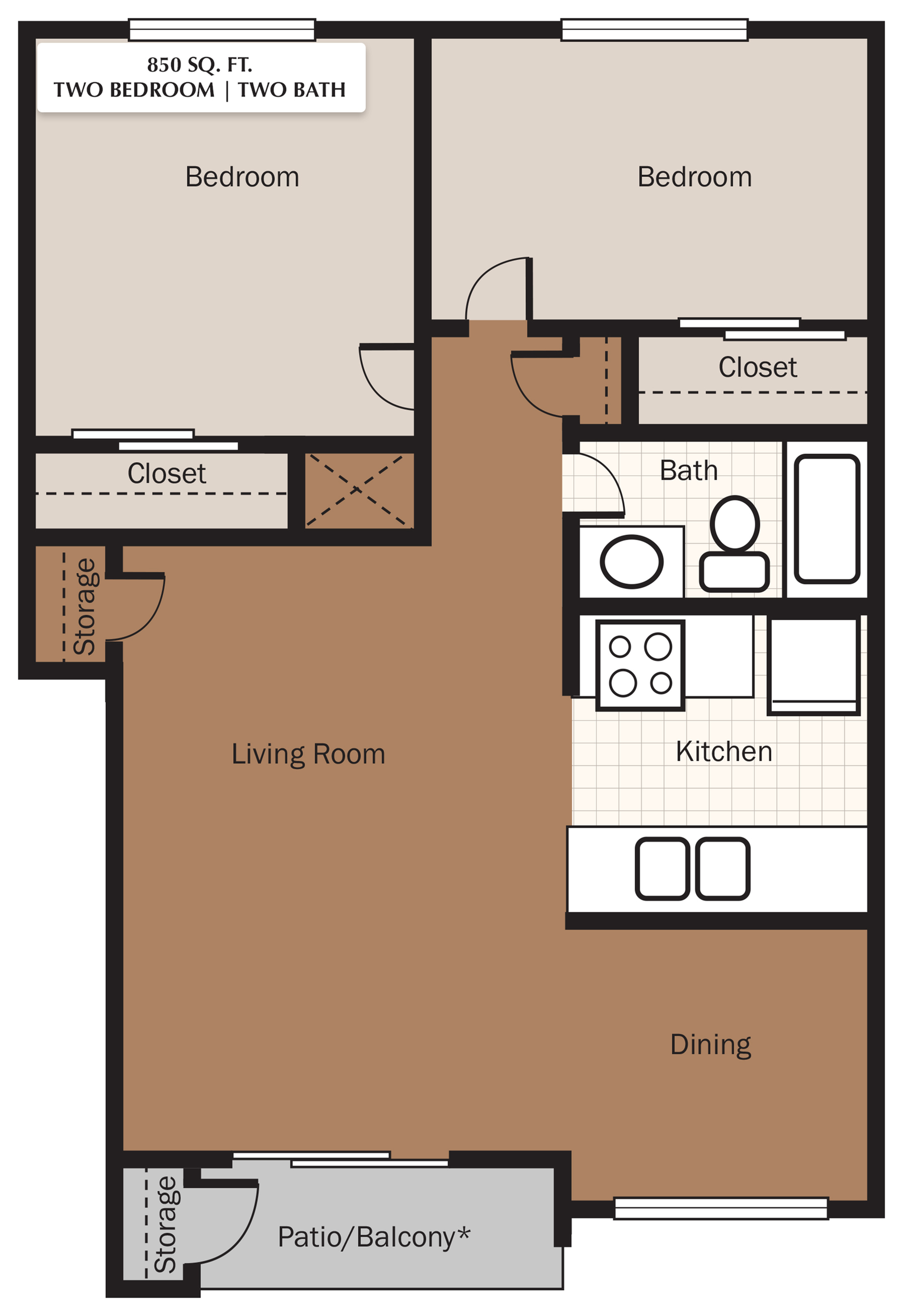 The Meadows Apartments Floorplan 3
